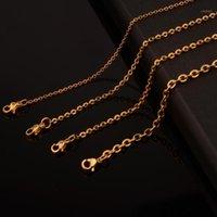 1,5 / 2 / 2.4 / 3,2 mm 5/10 / 20/50 stücke Heißer Verkauf Edelstahl Gold Kreuzkette Halskette Finden Anhänger DIY Großhandel Schmuck 16-40inch1