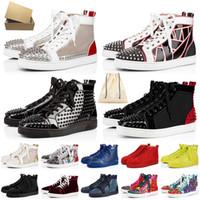 red bottoms Com caixa Tamanho grande 13 Marca de luxo Calçado de grife masculino e feminino Sapatos casuais com pontas Treinadores Tênis plataforma