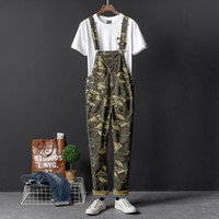 Jumpsuit Overalls For Men Camouflage Casual Pants Suit Men&#...