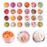 Nail Art Décorations 24 Boîtes Soft Céramiques Belle Accessoires Autocollant pour Fête Beauty Shop Femmes