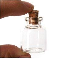 5 шт. 4 мл мини стекло, желающие бутылку пробковой пробковой пробки пустой образец Джарс DIY Подвески хранения флакон свадьба дома украшения JLLHPF