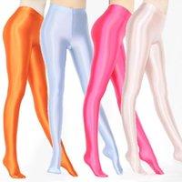 Xckny 2020 Nouvelle couleur XS-3XL Satin Satin Gloss Pantyhose Opaque Collant Élevé Seulement humide Sexy Bas Sexy Slim High Pants1