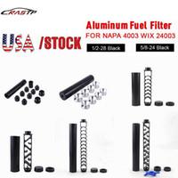 """США сток 6 """"дюймовый / 10 дюймов спираль 1 / 2-28 5 / 8-24 одноъядерный алюминиевый трубчатый автомобильный топливный фильтр ловушка для сальвента для NAPA 4003 WIX 24003 в наличии"""
