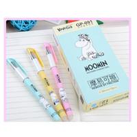 Großhandel - löschbare Gelstifte Moomin blau farbige Kawaii-Geschenk-Gel-Ink-Stifte zum Schreiben von niedlichen Briefpapierbüro Scho Jllrfa Warmslove
