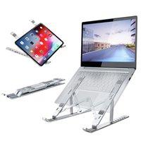 1 UNIDS Tablet PC Soporte portátil Pantalla portátil para 7 a 17 pulgadas 15 ~ 45 Grados Triángulo Ajuste de aleación de aluminio ajustable