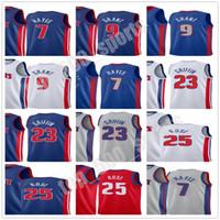 2020-21 Şehir Mavi Blake 23 Griffin Killian 7 Hayes Derrick 25 Rose Jerami 9 Grant Formalar Basketbol Baskı Beyaz Gri Kırmızı Jersey