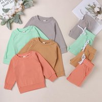 Melario Baby Girls 옷 세트 새로운 봄 아기 정장 순수 양모 양털 탑스와 바지 2pcs 유아 여자 옷 복장
