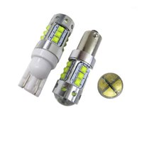 Emergency Lights 2PCS Extremely Bright T10 W5W 80W T4W BA9S BAX9S BAY9S XBD CREE Chip LED Back Car Reverse Parking Light Xenon White Color1