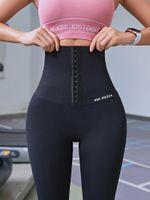 2020 Фитнесс брюки женские корсеты хип подъем послеродового формирование йоги высокой талии колготок Push Up Бег Женщины Gym Фитнес поножи