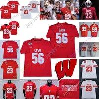 2020 Wisconsin Badgers Futbol Forması NCAA Koleji Andrew Van Ginkel Shaw Sanborn Thomas Dayne Bennett Fletcher Evans Gruber Kendric Pryor