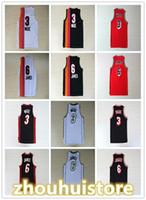 Homens personalizados Mulheres Crianças Basquetebol Dwyane 3 Wade 6 James Jersey Crianças Arco-íris Preto Branco 100% Costurado 3 Wade 6 James Jersey