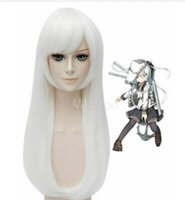 Kantai Collection Kancolle Hibiki Cadılar Bayramı Beyaz Cosplay Peruk Saç