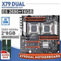 Anakartlar X79 Çift PC Oyun Anakart Seti 1 × Xeon E5 2690 2 8 GB = 16 GB 1600 MHz DDR3 ECC Reg Bellek1
