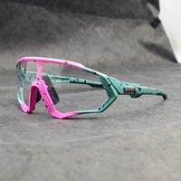 Marka Yeni Photochromic Bisiklet Gözlük Dağ Bisikleti Bisiklet Gözlükleri Açık Spor Bisiklet Güneş Gözlüğü UV400 Gözlük 1 Lens
