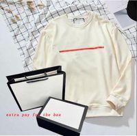 19FW мода капюшон мужчин женщин пуловеры толстовки мужские перемычки буквы напечатаны с длинным рукавом толстовки Homme одежда M-2XL