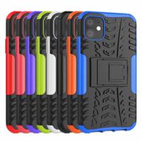 2In1 Cas de téléphone à double couche hybride à double couche robuste robuste pour iPhone 6 7 8plus x xr xsmax 11 12 13 Pro Max Samsung S20