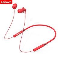 헤드폰 이어폰 원래 Lenovo HE05 블루투스 헤드셋 넥 밴드 스포츠 귀마개 마이크 방수 Wports 귀를 가진 소음 감소