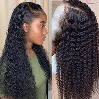 WIG WIG WIG Curto Curly Lace Dianteira Perucas de Cabelo Humano para Mulheres Negras Bob Longa Peruca Brasileira Frontal Molhado e Wavy HD completo