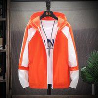 Summer Jacket Men Ultra-thin Suntan-proof Outerwear Contrast Color Hooded Sun-protection Outdoor Tour Windbreaker Coats Male