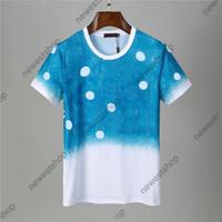 2021 Neue Ankunft Sommer Designer Herren Kleidung Tshirt Blauer Himmel Wolke Brief Druck Casual T-Shirt Abzeichen Frauen Luxus T-Shirt Kleid Tee Tops