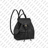 M45501 M45397 M45397 Montsouris PM أنيقة النساء جلد البقر حقيقي emobss قماش مشبك حقيبة الظهر حقيبة محفظة حقيبة الكتف