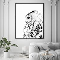 Nordic Mountain Landscape Canvas Oil Painting Eagle Animal P...