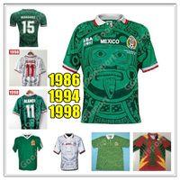 الرجعية 98 المكسيكي لكرة القدم الفانيلة بلانكو 11 هيرنانديز 15 كامبوس راميريز 7 بالينسيا H.Sanchez 9 قمصان كرة القدم Calcio Futbol 86 94 95 Classic