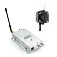 Kit de cámara inalámbrica 1.2G Radio AV Receptor con la fuente de alimentación Dispositivo de seguridad de la vigilancia
