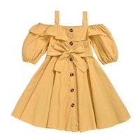 1-6T Качественные модные слинг девушки платья хлопок тканые с коротким рукавом девочка несколько цветов доступны принцессы детские платья