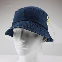 2020 Üst Tasarım Kot Kap Kova Şapkalar Logo Balıkçı Stingy Brim Futbol Kovalar Şapka Pamuk Kadın Erkek Güneş Kap Namlu Caps