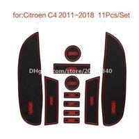 Araba Kapısı Yuvası pedi su Coaster İç Kaymaz paspaslar için Citroen C4 2011-2018
