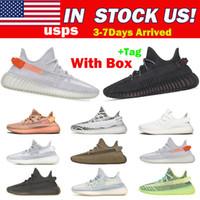 Loja de alta qualidade e remessa de nós Kanye West Zebra Yeezel Correndo Tênis Yechheil Belgua Terra Estático Cinder homem Mulheres Sneakers 36-48