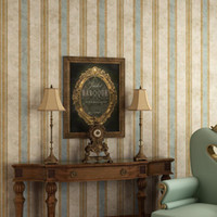 Retro Nostalgische Tapete Retro Vertikale Streifen Amerikanisch-Stil Dorfstil Wohnzimmer Schlafzimmer Studie Klassisch gestreift