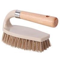 Holz Multifunktionsbürsten Schuhbürsten Küche Kleidung entfernen Schmutz WC Badezimmer Badewannen Schuhe Bürste Tile Bodendüse FFA4495