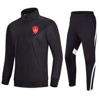 Stade Brestois 29 erkek Eşofman Ceket ve Pantolon Eğitim Takım Elbise Açık Spor Jogging Giyim Yetişkin Çocuklar Futbol Setleri