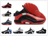 Air jordan 35 XXXV Center of Gravity Bayou Jungen DNA Junge Kinder Kinder Basketball-Schuh-Frauen-Mädchen-Sport-Turnschuh-Fragment x 35 Jumpman