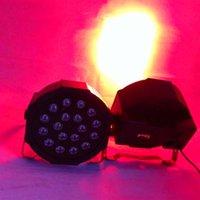 حار بيع 18W 18-LED RGB السيارات والصوت التحكم حزب أضواء المرحلة الأسود أعلى درجة المصابيح الجديدة وعالية الجودة أضواء الاسمية الساخن