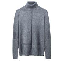 Мужские свитера Varsanol Turtleeneck Мужчины Cube вязаный свитер для зимнего теплого пуловера мужская одежда негабаритные моды