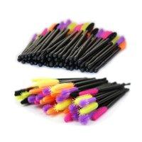 50pcs lot Disposable Mascara Wands Silicone Eyelash Brush Makeup Mascara Applicators Kit Applicator Wand Brush