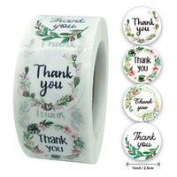 الدائرة شكرا لك ملصقات ختم تسميات زهرة الغذاء ملصقا القرطاسية اليدوية لدعم أعمالي الصغيرة