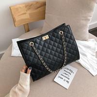2021 حقائب اليد الفاخرة المرأة أكياس بلون بو الجلود سلاسل مصمم كبير حقيبة الكتف الأزياء crossbody محفظة للإناث حمل