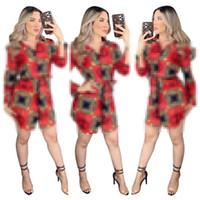 Lettre d'impression plus Taille Tableau Chemises Single Courtiers Marque Femmes Chemises Floraux Collier De Doublure Automne Blouses Casual Tops Femmes Casual