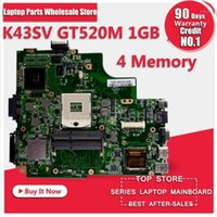 K43SV اللوحة الأم GT520M 1GB ل ASUS A43S X43S K43SV K43SJ الكمبيوتر المحمول اللوحة الأم