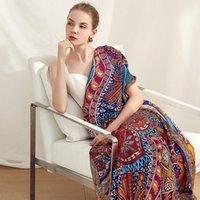 """52 """"X52"""" Классический печать 100% шелковый шарф шаль женские модные шарфы обертывают накидные женские роскоши подарки1"""