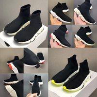 Balenciaga Kid Sock shoes Luxury Brand Designer shoes Vetements tripulação Sock Runner Formadores Sapatos Calçados Infantis Hight top Bota Eur 24-39