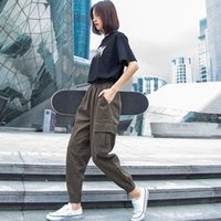 Fashion brand overalls women show thin high waisted small ultra fire legged casual pants autumn loose sports Harun pants trend