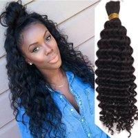 Свободная волна человеческие волосы навалом для плетения 1 3 шт. Пакеты вьющиеся Малайзийские РЕММ Удлинение человеческих волос Насыпь Черный Цвет 1 # / 2 # / 4 #
