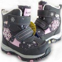 Девушки мальчики снежные ботинки настоящие натуральные шерстяные дети снежные ботинки теплые водонепроницаемые недвижимости Размер обуви от 22 до 40 WallVell LJ201201