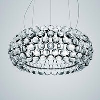 Sala de visitas moderna acrílica RS7 Bulb Luzes pendentes Luster Sala de jantar Foscarini Caboche Dia35 / 50 / 65CM Limpar Gold Pendant Lamp