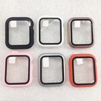 DHL-Cajas de los relojes del reloj para Apple Miro la cubierta con vidrio templado la película del protector para colgar accesorios inteligentes